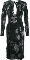 Erdem keyhole detail floral dress