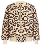 Givenchy Jaguar-print padded bomber jacket