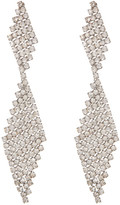 Natasha Accessories Crystal Mesh Double Drop Earrings
