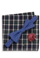 Original Penguin Perez Bow Tie, Pocket Square & Lapel Pin Gift Set