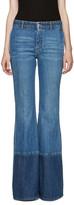 Alexander McQueen Blue Flared Jeans