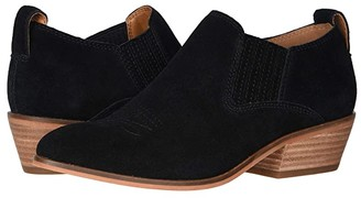 Frye Rubie Western Slip-On (Black Suede) Women's Boots