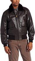 Alpha Industries Men's G-1 Leather Military Flight Jacket