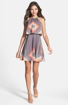 Jessica Simpson Print Halter Dress
