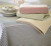 Pottery Barn Thatcher Ticking Stripe Tablecloth
