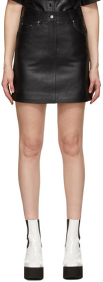 Stand Studio Black Leather Ara Miniskirt