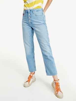 Tommy Jeans Harper High Rise Straight Ankle Jeans - Blue