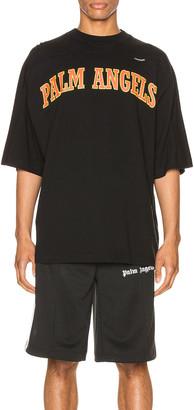 Palm Angels New College Logo Tee in Black | FWRD