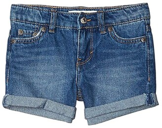 Levi's(r) Kids Girlfriend Fit Shorty Shorts (Little Kids) (Washed Black) Girl's Shorts