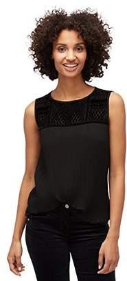 Tom Tailor Women's Festive Blousetop Blouse, (Black 2999)