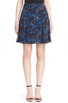 Yigal Azrouel Women's Midnight Fern Print Stretch Silk Skirt