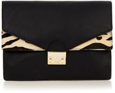 Loeffler Randall Agenda Animal print leather clutch