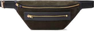 Tom Ford Buckley Leather-Trimmed Suede Belt Bag