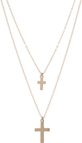 ERTH for FWRD 14K Gold Double Cross Necklace