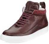 Public School Braeburn Leather High-Top Sneaker, Oxblood