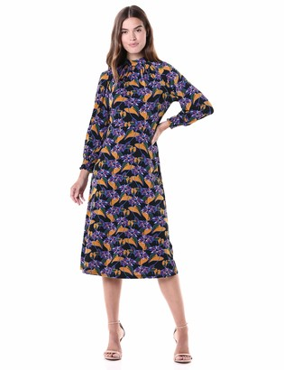 Adrianna Papell Women's Leafy Hearts Mockneck Dress