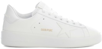 Golden Goose Pure Star Leather Upper Star And Heel