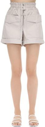 Etoile Isabel Marant Lizy High Waist Cotton Canvas Shorts