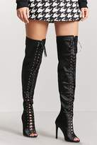 Forever 21 Satin Over-the-Knee Boots