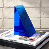 CB2 Deep Blue Acrylic Bookend