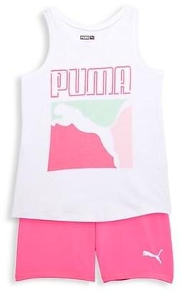 Puma Girl's 2-Piece Tank Short Set