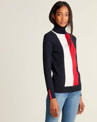 Tommy Hilfiger Long Sleeve Vertical Stripe Turtleneck Sweater
