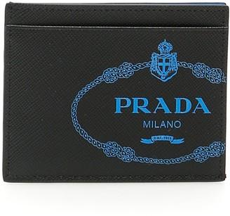 Prada Logo Embossed Cardholder