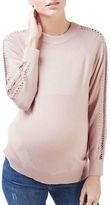 Topshop MATERNITY Lattice Stud Wool-Blend Sweater