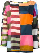 Odeeh multi-stripes blouse