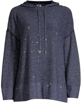 Lafayette 148 New York Sequin Silk & Wool-Blend Oversized Hoodie