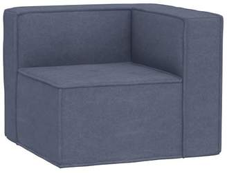 Pottery Barn Teen Oversized Cushy Corner Chair, Enzyme Washed Canvas Storm Blue, In-Home