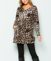 Sweet Pea Black & Brown Leopard Pocket Tunic