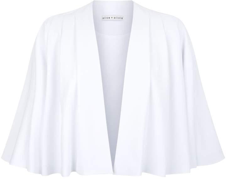 Alice + Olivia Marjory Pleated Sleeve Jacket