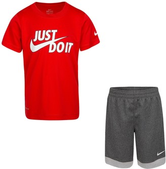 """Nike Boys 4-7 Just Do It"""" Graphic Tee & Shorts Set"""