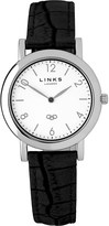 Links of London Noble slim leather strap watch