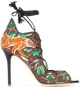 Malone Souliers 'Savannah' sandals - women - Cotton/Calf Leather/Leather - 38