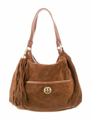 Tory Burch Suede Shoulder Bag Brown