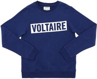 Zadig & Voltaire Printed Logo Cotton Blend Sweatshirt