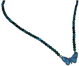 Elaine Coyne Galleries Handmade Patina Butterfly Pendant on Chrysocolla by Elaine Coyne
