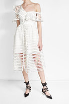 Self-Portrait Lace Frill Dress