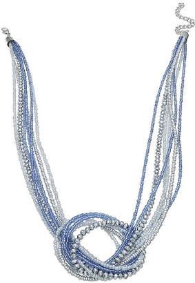 MIXIT Mixit Blue Seedbead Short Beaded Necklace