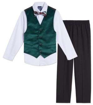 Nautica Baby Boys Green Velvet Vest Set