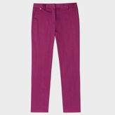 Paul Smith Women's Slim-Fit Maroon Polka Dot Stretch-Cotton Trousers