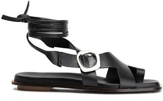 3.1 Phillip Lim Lace-up Buckle-embellished Leather Sandals