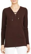 Lauren Ralph Lauren Lace-Up Jersey Tunic