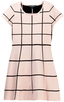 My Michelle mymichelle Windowpane Knit Skater Dress (Big Girls)