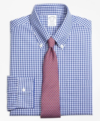 Brooks Brothers Regent Fitted Dress Shirt, Non-Iron Framed Check