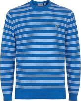 Lacoste Crew Neck Fine Striped Cotton Jumper