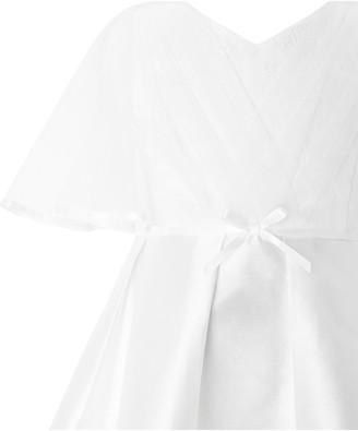 Monsoon Girls Sherry Cape Dress - White