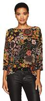 M Missoni Women's Zigzag Floral Silk Top